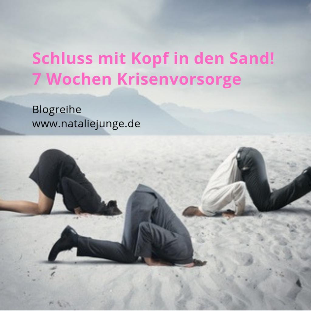 Schluss mit Kopf in den Sand