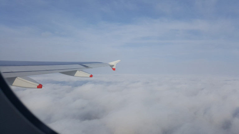Header: Corona im Flugzeug